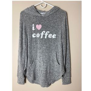 I ❤️ coffee by Grayson threads hooded graphic tee